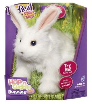 FurReal Friends Hop N Cuddle Bunny - White