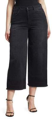 Marina Rinaldi Ashley Graham x Ashley Graham X Crop Wide Leg Jeans