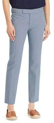 Lauren Ralph Lauren Petite Twill Jacquard Slim-Fit Pants