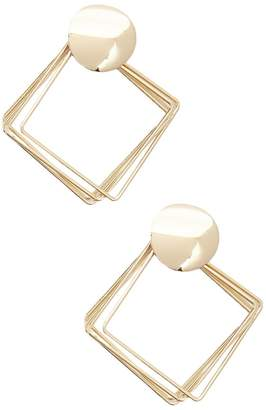 Forever 21 Layered Geo Drop Earrings