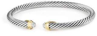 David Yurman Cable Kids Bracelet With Diamonds And 18K Gold