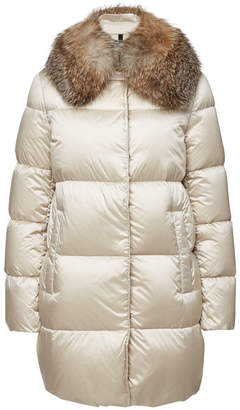 Moncler Loriot Quilted Down Coat with Fox Fur