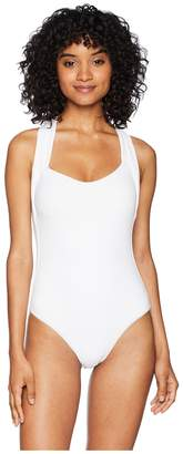 Becca by Rebecca Virtue Color Code Wrap One-Piece Women's Swimsuits One Piece