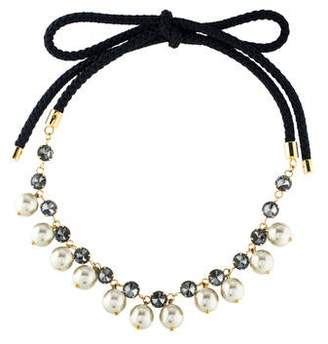 Marni Crystal & Faux Pearl Collar Necklace