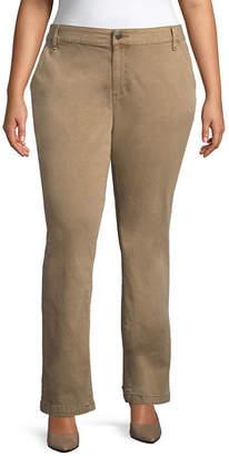 ST. JOHN'S BAY Sateen Straight Leg Trouser - Plus