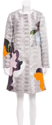 Mary Katrantzou 2016 Metallic Knee-Length Coat w/ Tags