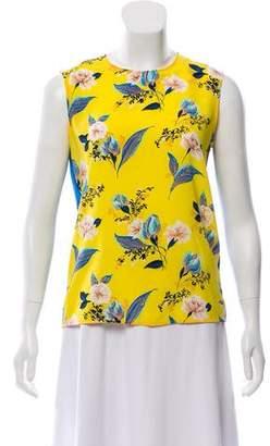 Diane von Furstenberg Sleeveless Floral Print Top