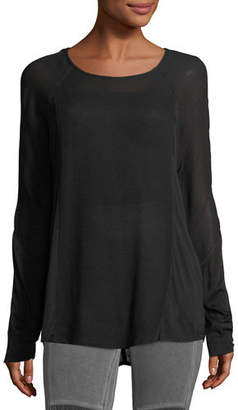 XCVI Long-Sleeve Crepe Blouse, Plus Size