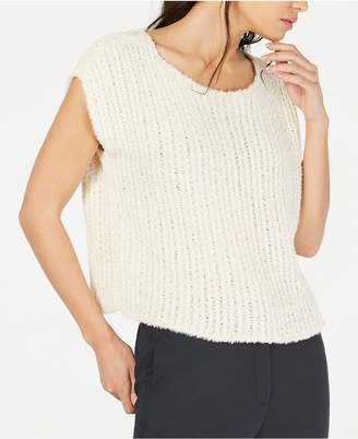 Eileen Fisher Organic Cotton Cropped Textured Sweater