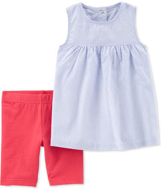 Carter's Toddler Girls 2-Pc. Striped Top & Tumbling Shorts Set