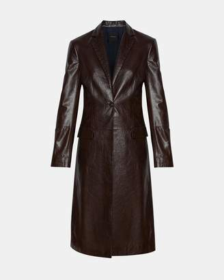 Theory Varnished Leather Coat