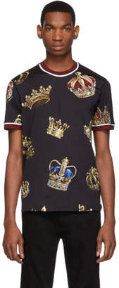 Dolce & Gabbana Black Crown T-Shirt