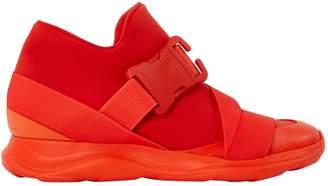 Christopher Kane Orange Cloth Trainers