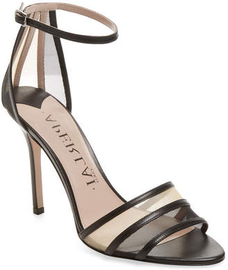 Aperlaï Leather & Mesh Ankle-Strap Sandal