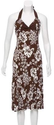 Michael Kors Printed Halter Dress