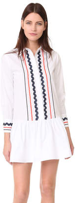 ENGLISH FACTORY Collared Drop Waist Dress $83 thestylecure.com