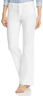 Level 99 Janelle Flared-Leg Jeans in Optic White
