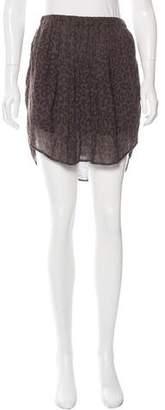 Raquel Allegra Leopard Print Mini Skirt