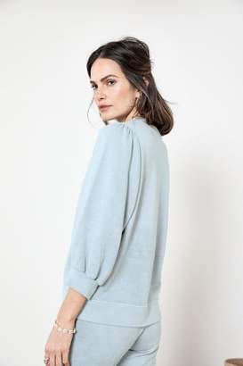 Rag Doll Ragdoll PUFF SLEEVE SWEATSHIRT Pale Blue