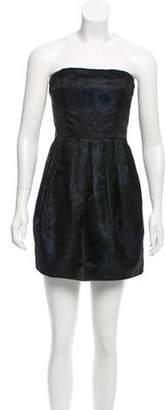 Rachel Zoe Abstract Pattern Pleated Dress