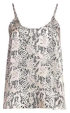 ATM Anthony Thomas Melillo Women's Silk Snake Print Camisole Top