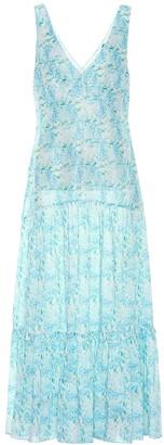 Rixo Carrie linen and silk maxi dress