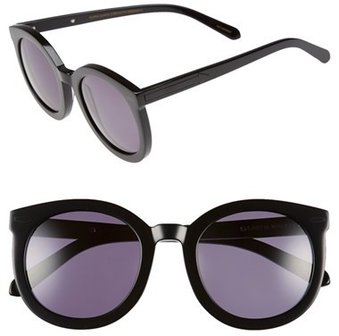 Women's Karen Walker 'Super Duper Strength' 55Mm Retro Sunglasses - Black
