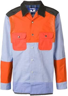 Junya Watanabe patchwork shirt jacket