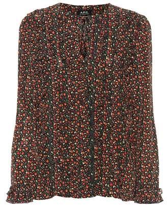 A.P.C. Printed silk blouse