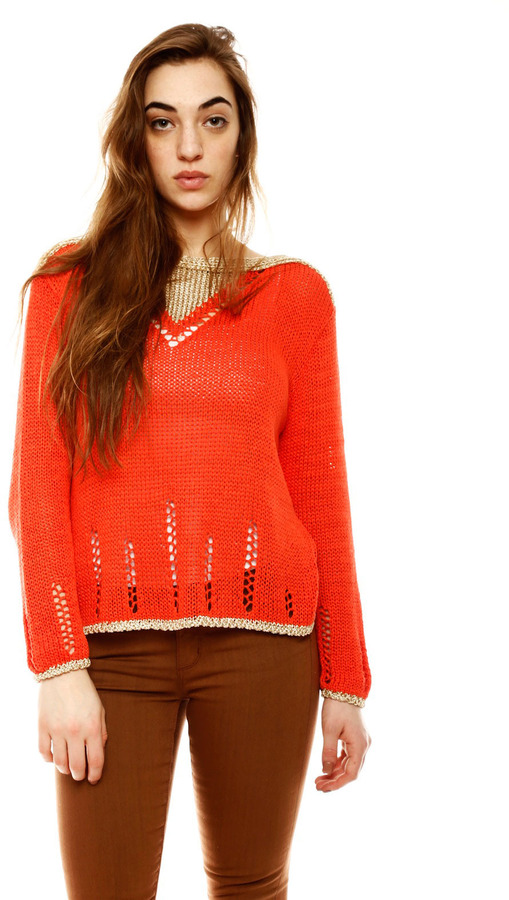 Arthur F Metallic Knit Sweater