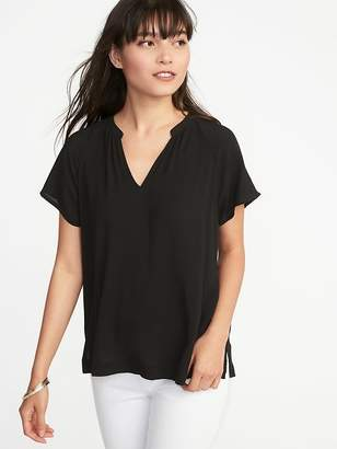 Old Navy Lightweight Split-Neck Top for Women