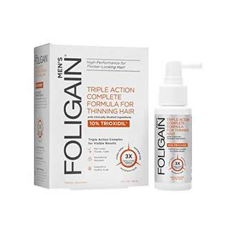 Foligain Triple action complete formula for thinning hair for men with 10% trioxidil 2 fluid ounce
