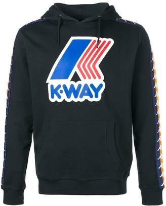 Kappa K WAY X print hoodie