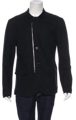John Varvatos Wool Zip-Up Jacket