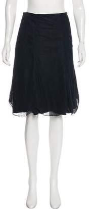 Chanel Mesh Overlay Knee-Length Skirt