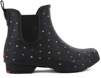 Chooka Women Tonal Dot Chelsea Ankle Rain Boot Women Shoes