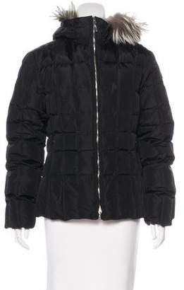 Post Card Fur-Trimmed Down Jacket