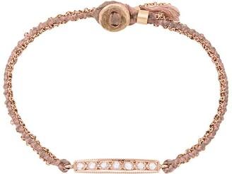 Brooke Gregson 14kt gold 7 Diamond Bar bracelet