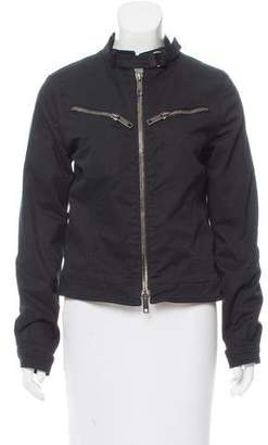 Burberry Fitted Zip-Up Jacket