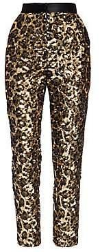 Dolce & Gabbana Women's Sequin Leopard Print Ankle Pants