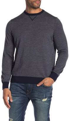 Thomas Dean Stripe Crew Neck Knit Sweater