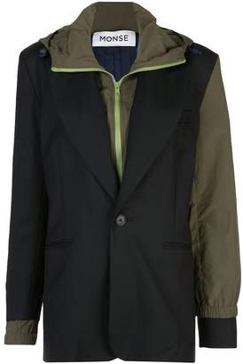 Monse Wool & Nylon Blazer with Hood