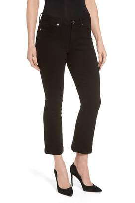 Good American High Waist Crop Bootcut Jeans (Black 005) (Extended Sizes)
