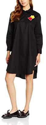 Peter Jensen Women's Bib Shirt Dress Plain,(Size:L)