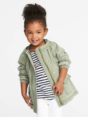 Old Navy Drapey Twill Anorak for Toddler Girls