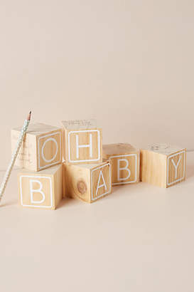 Anthropologie Oh Baby! Building Block Guest Book