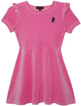 Juicy Couture Velour Ruffle Shoulder Dress