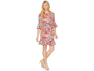 London Times Koshibo Print Ruffle Dress Women's Dress