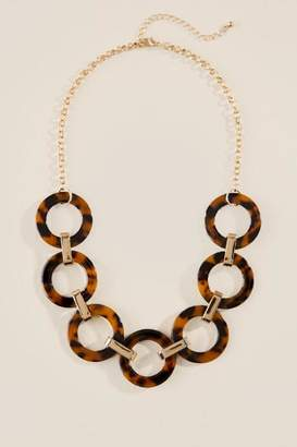 francesca's Skyler Circle Statement Necklace - Amber