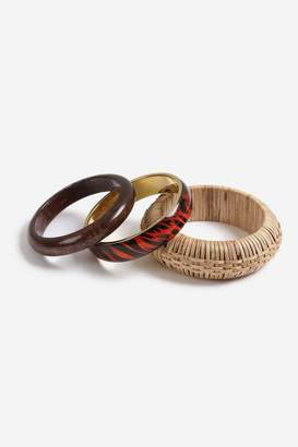 Topshop Mixed Wicker Bangle Pack